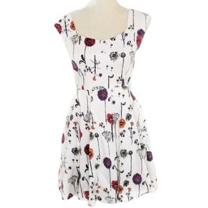 Pink Martini Floral Sweetheart A Line Dress XS